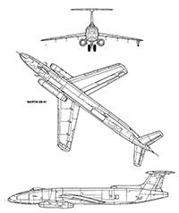Американский бомбардировщик Martin XB-51-2
