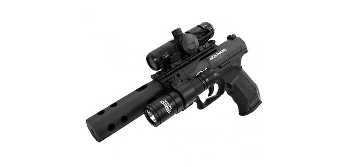 Пневматический пистолет Walther Night Hawk black